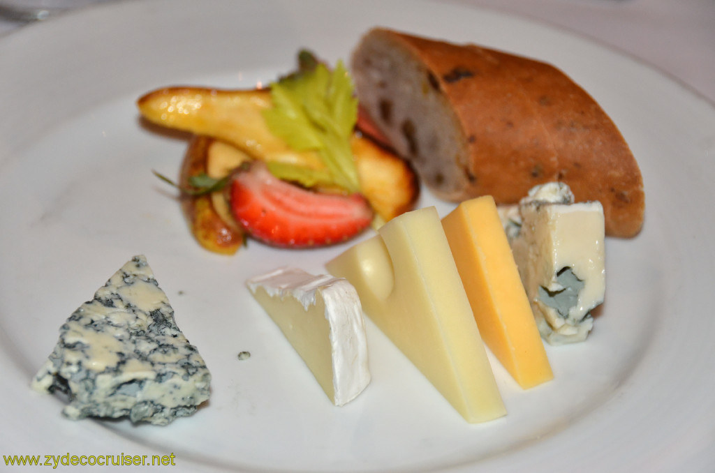Carnival Conquest, New Orleans, Embarkation, MDR Dinner, Cheese Plate