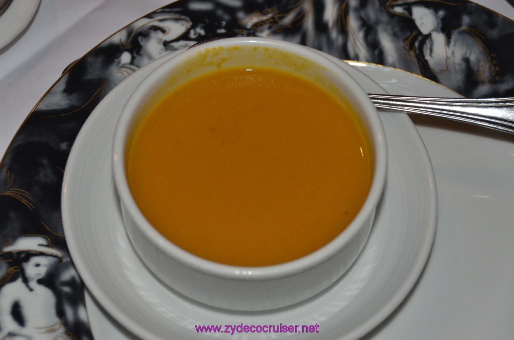 Carnival Conquest, Fun Day at Sea 1, MDR Dinner, West Indian Roasted Pumpkin Soup