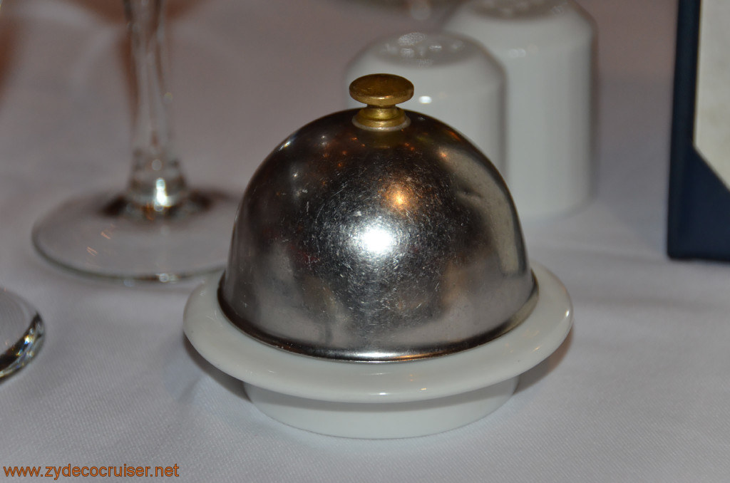 Carnival Conquest, Fun Day at Sea 3, MDR Dinner, Butter dish,