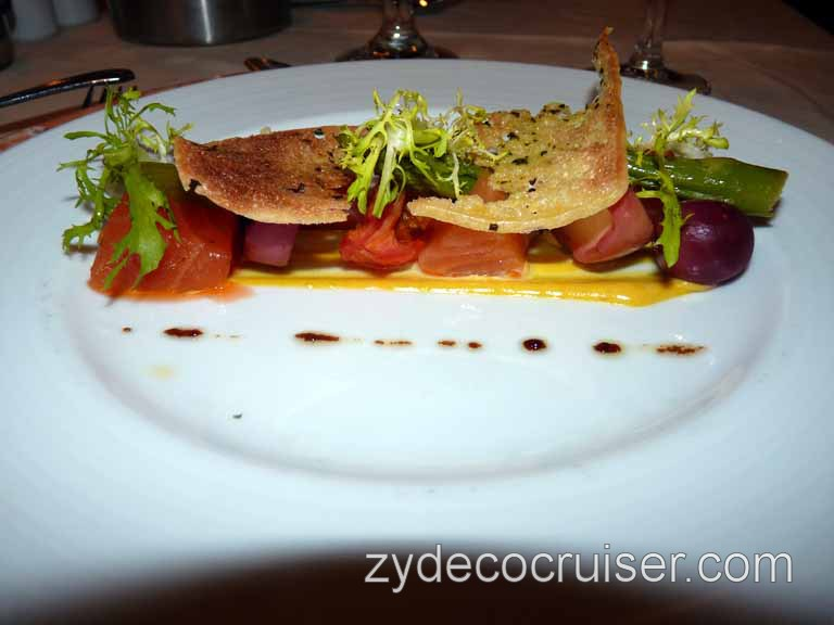 540: Carnival Sensation - Cured Salmon and Candied Tomato
